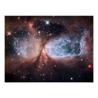 Hubble Snow Angel Poster