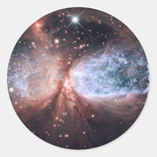 Hubble Snow Angel Round Sticker