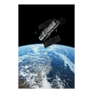 Hubble Space Telescope 20x30 (21x31) Poster