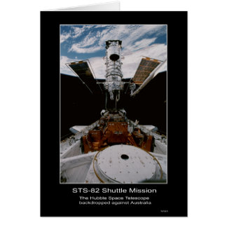 Hubble Space Telescope Above Australia Greeting Card