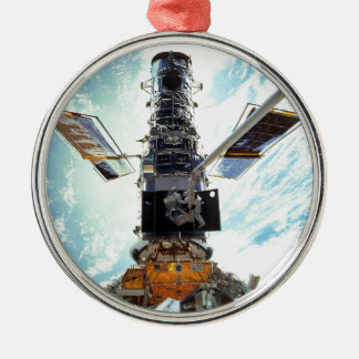 Hubble Space Telescope and astronauts Christmas Ornament