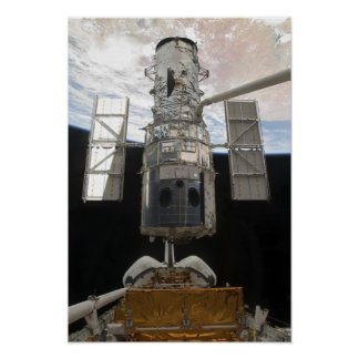 Hubble Space Telescope in Atlantis cargo bay Poster