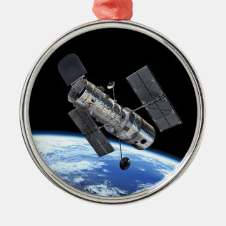 Hubble Space Telescope In Earth Orbit NASA Photo Christmas Ornament