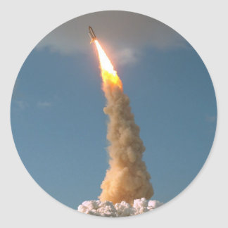 Hubble Space Telescope lift off  NASA Classic Round Sticker
