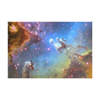 "HUBBLE TELESCOPE ""Eagle Nebula"" ON CANVAS Canvas Print"