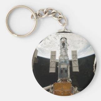 Hubble telescope basic round button key ring