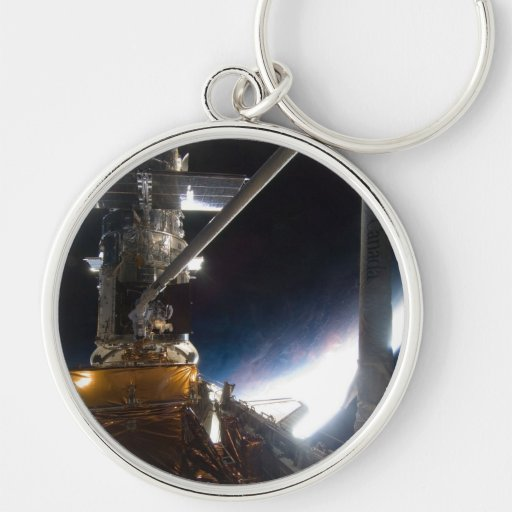 Hubble telescope key chain