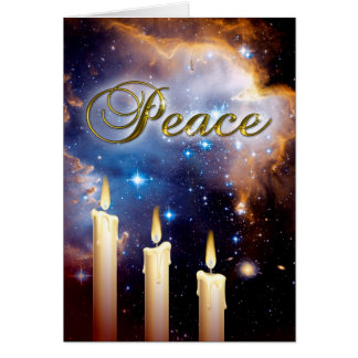 Hubble Three Candles and Small Magellanic Cloud Greeting Card