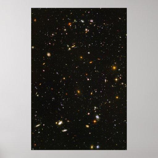 Hubble Ultra Deep Field Photo Posters