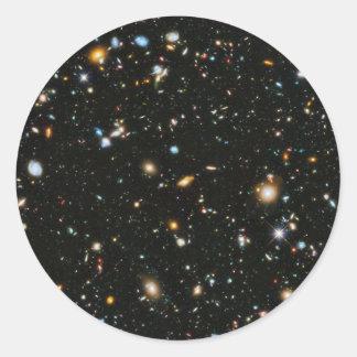Hubble Ultra Deep Field Round Sticker