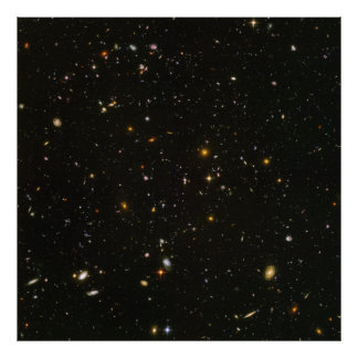 Hubble Ultra Deep Field View- HUDF- Uncompressed Poster