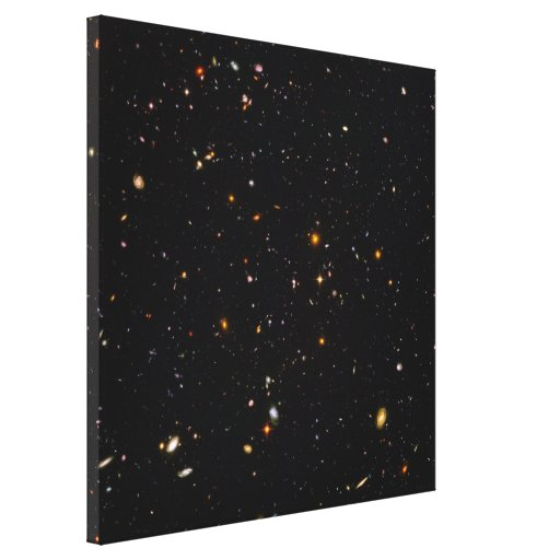Hubble Ultra Deep Field View of 10,000 Galaxies Canvas Prints