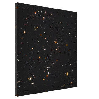 Hubble Ultra Deep Field View of 10,000 Galaxies Gallery Wrap Canvas