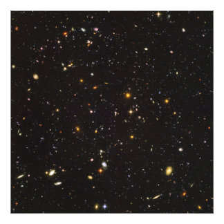 Hubble Ultra Deep Field View of 10,000 Galaxies Photo Print
