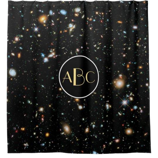 Hubble Ultra Deep Field with Custom Monogram Shower