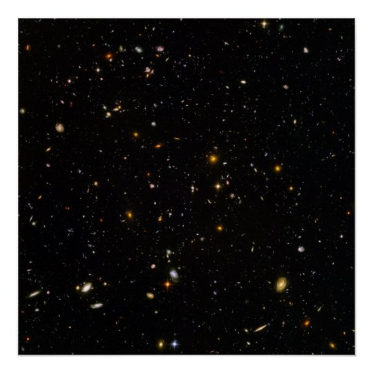 Hubble Ultra Deep Space Field Poster