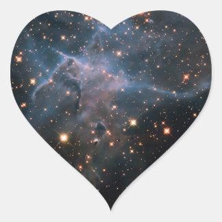 Hubble's 'Mystic Mountain' - Deep Space Heart Sticker
