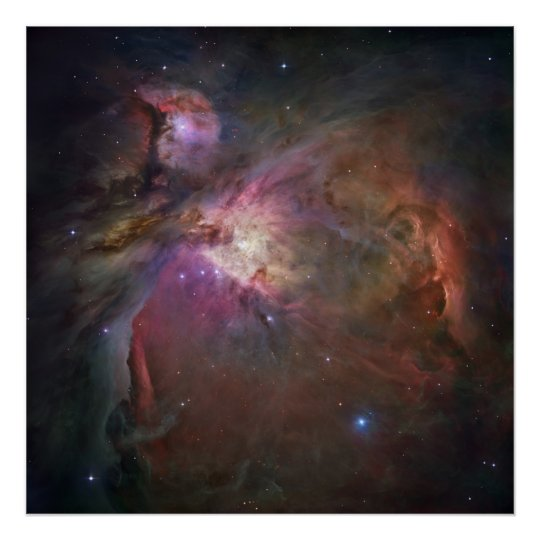 Hubble's Sharpest View of the Orion Nebula Poster