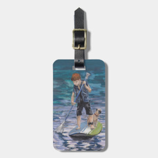 Huck 2015 Boy Adventurer and his Pug dog Luggage Tag