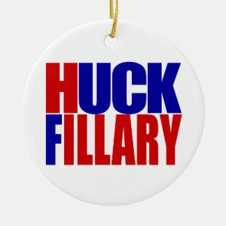 """HUCK FILLARY"" ROUND CERAMIC DECORATION"
