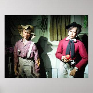 Huck Finn with Tom Sawyer Print