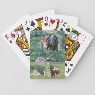 Huck the Newf Playing cards