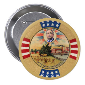 Huckabee and Prosperity 3 Inch Round Button