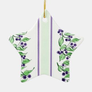 Huckelberry stripes ceramic star decoration