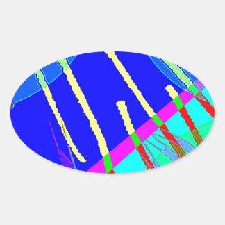 Huddle Muddle 18 Oval Sticker