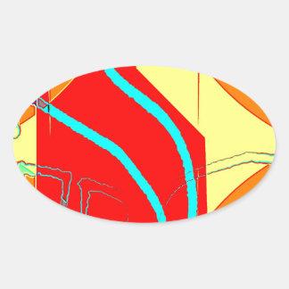 Huddle Muddle 20 Oval Stickers