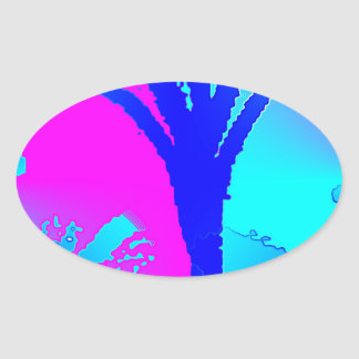 Huddle Muddle 2 Oval Sticker