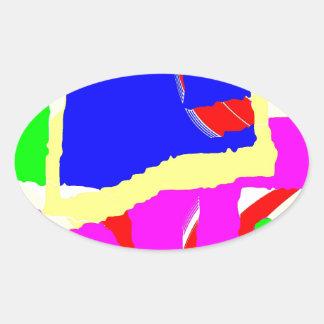 Huddle Muddle 6 Oval Sticker