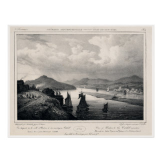 Hudson and Catskill Mountains in the 1800's Poster