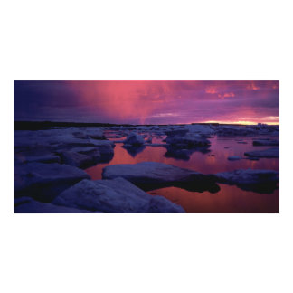 Hudson Bay Sunset Canada Personalized Photo Card