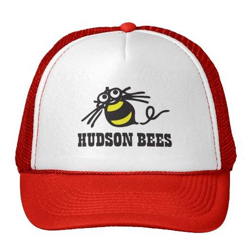 Hudson Bees Baseball Cap (Red) Mesh Hats