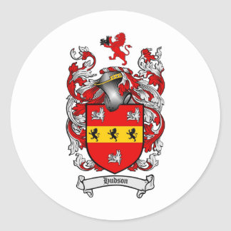 HUDSON FAMILY CREST -  HUDSON COAT OF ARMS STICKERS