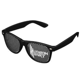 Hudson Henry's Adult Party Shades, Black Retro Sunglasses