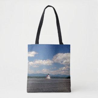 Hudson River Lighthouse Tote Bag