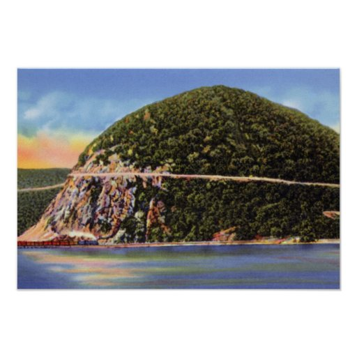 Hudson River New York Storm King Mountain Poster