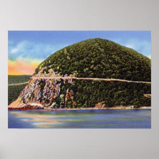 Hudson River New York Storm King Mountain Poster