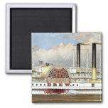 Hudson River Steamer 1877 Bookmark Fridge Magnet