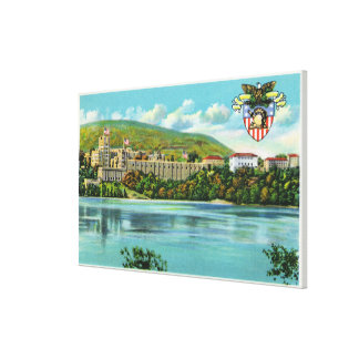 Hudson River View of US Military Academy Canvas Print