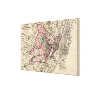 Hudson, Union, Essex Cos, NJ Canvas Print