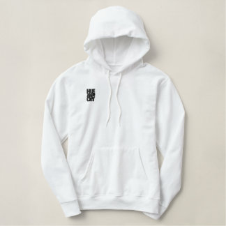 Hue And Cry - Embroidered - Hoodie (Ladies/White)