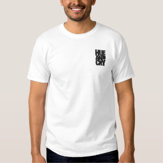 Hue And Cry - Embroidered - T-Shirt (Mens/White)