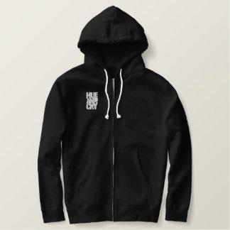Hue And Cry - Embroidered - ZipHoodie (Mens/Black) Hoodie