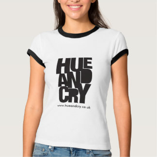 Hue and Cry - T-shirt (Ladies Ringer)