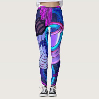 Hues of Blue Leggins Leggings