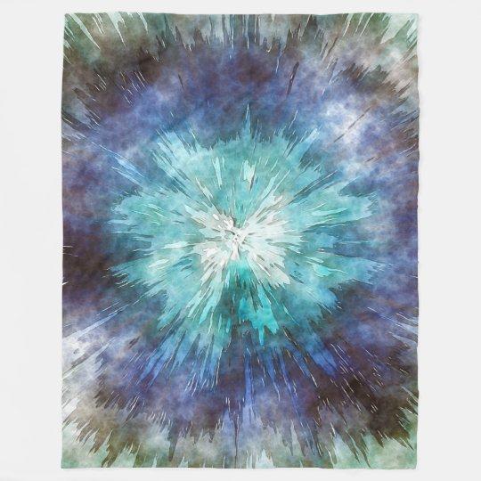 Hues of Blue Tie Dye Fleece Blanket