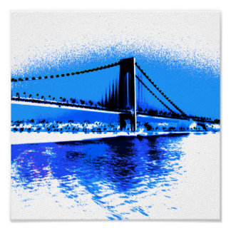 Hues of Blues Bridge print